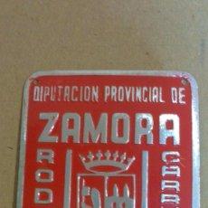 Carteles: EXCELENTISIMA DIPUTACION PROVI.ZAMORA,RODAJE AÑO 1.966, CHAPA PARA CARRUAJES, SIN USO.. Lote 29735730