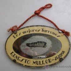 Carteles: LOS MEJORES TURRONES.ESPEJO ERNESTO MULLOR-JIJONA. Lote 30197860