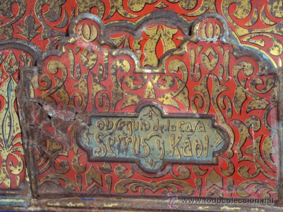 Carteles: (CAR-17)CARTEL PUBLICITARIO DE CHAPA OBSEQUIO DE LA CASA SERVUS Y KAOL - Foto 5 - 30517418