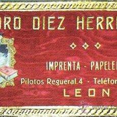 Carteles: 1966.- CABECERA ALMANAQUE CARTON ENTELADO, RASO, RELIEVE Y LETRAS INCRUSTADAS CON PUBLICIDAD. Lote 30822241