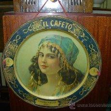 Carteles: PLATO DE CHAPA EL CAFETO. Lote 31194755