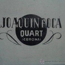 Carteles: PLANCHA DE CINC PUBLICITARIA DE QUART GERONA/GIRONA. Lote 31922251