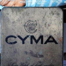 Carteles: CHAPA DE BRONCE DE RELOJES CYMA. PUBLICIDAD DE RELOJ. 16X12CM. Lote 32819621