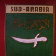 Carteles: ANTIGUA PLACA O CHAPA ESMALTADA SUD ARABIA . Lote 32976548