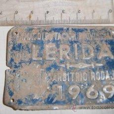 Carteles: PLACA DE BICICLETA, LÉRIDA 1969. Lote 33242237