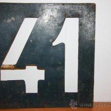 Carteles: TRANVIAS DE BARCELONA LINEA 41 PLACA METALICA. Lote 34293561