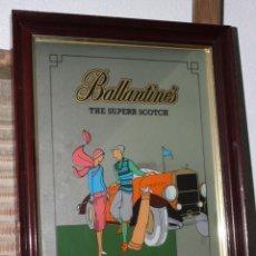 Carteles: PRECIOSO ESPEJO CARTEL PUBLICITARIO DE BALLANTINES. Lote 34897828