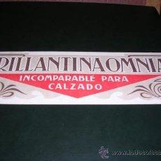 Carteles: CARTON PUBLICITARIO BRILLANTINA OMNIA ,- RICART VALLIRANA BARCELONA - 24,5X8 CM. . Lote 35067633