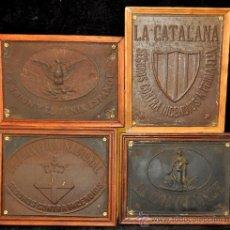 Carteles: LOTE DE 4 CHAPAS PUBLICITARIAS.LA CATALANA, LA CONFIANCE, LA UNION Y EL FENIX, LA PREVISION NACIONAL. Lote 35364346