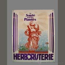 Carteles: CHAPA ESMALTADA. HERBORISTERIE. FRANCIA. 1900 - 1910. (BRD). Lote 35543201