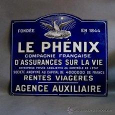 Carteles: CHAPA ESMALTADA. LE PHÉNIX. FRANCIA 1900 - 1920. (BRD). Lote 35543232