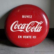 Carteles: CHAPA DE PUBLICIDAD DE COCA - COLA DE 90 CM !!!!!!!!. FRANCIA 1950 - 1955.. Lote 35543258