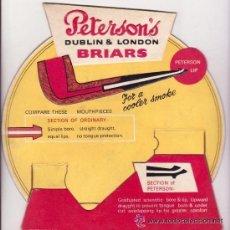 Carteles: DISPLAY TROQUELADO-RELIEVE PUBLICIDAD DE LAS PIPAS DE FUMAR 'PETERSON'S', '.21 X 22 CM.ENGLAND.. Lote 35556842