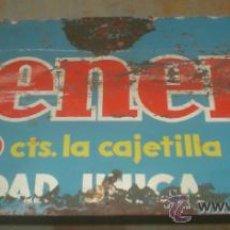 Carteles: CHAPA DE TABACO GENER. MEDIDAS:55 X 27 CM. VER FOTOS. Lote 36534487