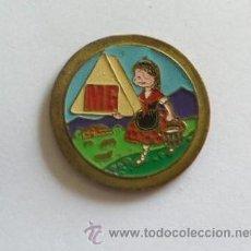 Carteles: MINI CHAPA DEL FAMOSO QUESO MG - LACTIOS LECHE QUESO EXTRA GRASO. Lote 36867510
