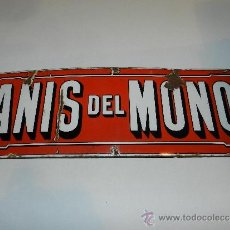 Carteles: (M) CHAPA ESMALTADA - ANIS DEL MONO ( ANTIGUA ) 60 X 20 CM, ESTADO EL DE LA FOTOGRAFIA. Lote 37051984