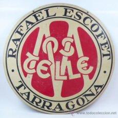 Carteles: VINOS MOSTELLE RAFAEL ESCOFET, TARRAGONA. DISPLAY CIRCULAR 50 CM DIÁMETRO.. Lote 37813976