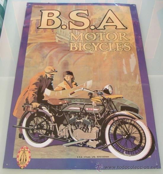 Gran chapa cartel de metal publicitario motos comprar carteles antiguos chapas y espejos - Carteles retro ...
