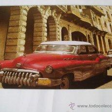 Carteles: CARTEL DE CHAPA LITOGRAFIADO REPRODUCCION COCHE DE EPOCA CUBANO. Lote 38958813