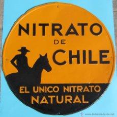 Carteles: CHAPA METALICA NITRATO DE CHILE. REPINTADA.. Lote 39496878