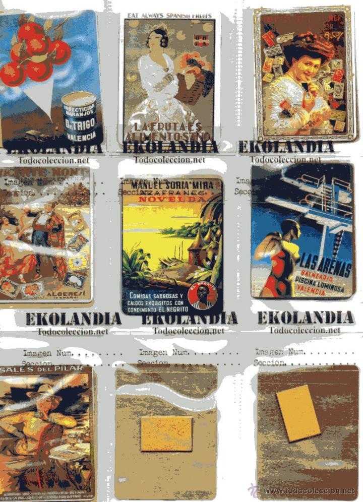 Carteles: L03 COLECCION COMPLETA DE 16 CHAPITAS METALICAS PUBLICITARIAS EKL TEMAS VALENCIANOS FACSIMIL *EKO - Foto 3 - 105103580