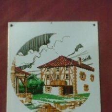 Carteles: CHAPA DE HIERRO ESMALTADA BIZKAIA. Lote 39695324