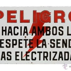 Carteles: CHAPA DE PELIGRO. Lote 39937001