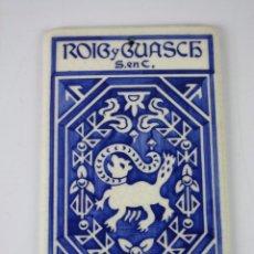 Carteles: LOZA ESMALTADA 'ROIG Y GUASCH S. EN C. BARCELONA - ESTAMPACIÓN RECLAMOS J. VILARO - PRINC. S.XX. Lote 40612136