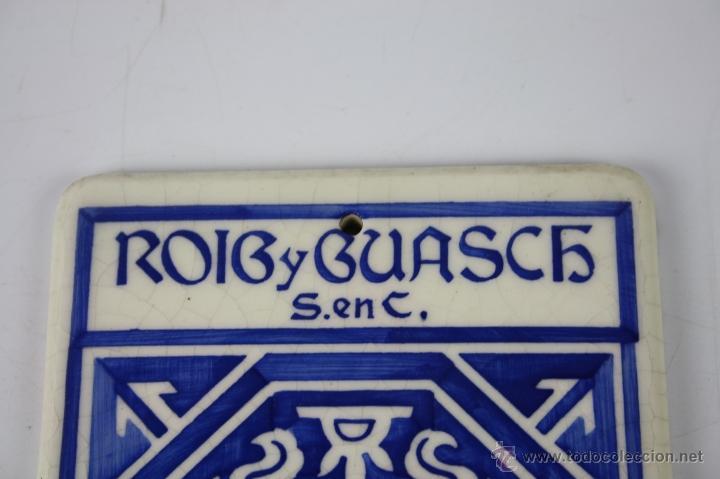 Carteles: LOZA ESMALTADA ROIG Y GUASCH S. EN C. BARCELONA - ESTAMPACIÓN RECLAMOS J. VILARO - PRINC. S.XX - Foto 2 - 40612136
