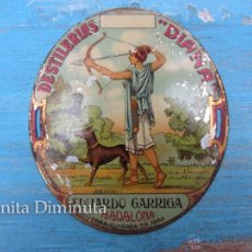Carteles: ANTIGUA CHAPA LITOGRAFIADA DE DESTILERIAS DIANA - EDUARDO GARRIGA - BADALONA - CASA FUNDADA EN 1882 . Lote 40672811