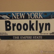 Carteles: CHAPA NEW YORK BROOKLYN 30X15 CM. Lote 41267937
