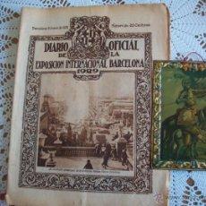 Carteles: CHAPA HOJALATA DON QUIJOTE PROPAGANDA SERVUS Y DIARIO OFICIAL DE EXPO INTERNACIONAL BARCELONA 1929. Lote 41757961