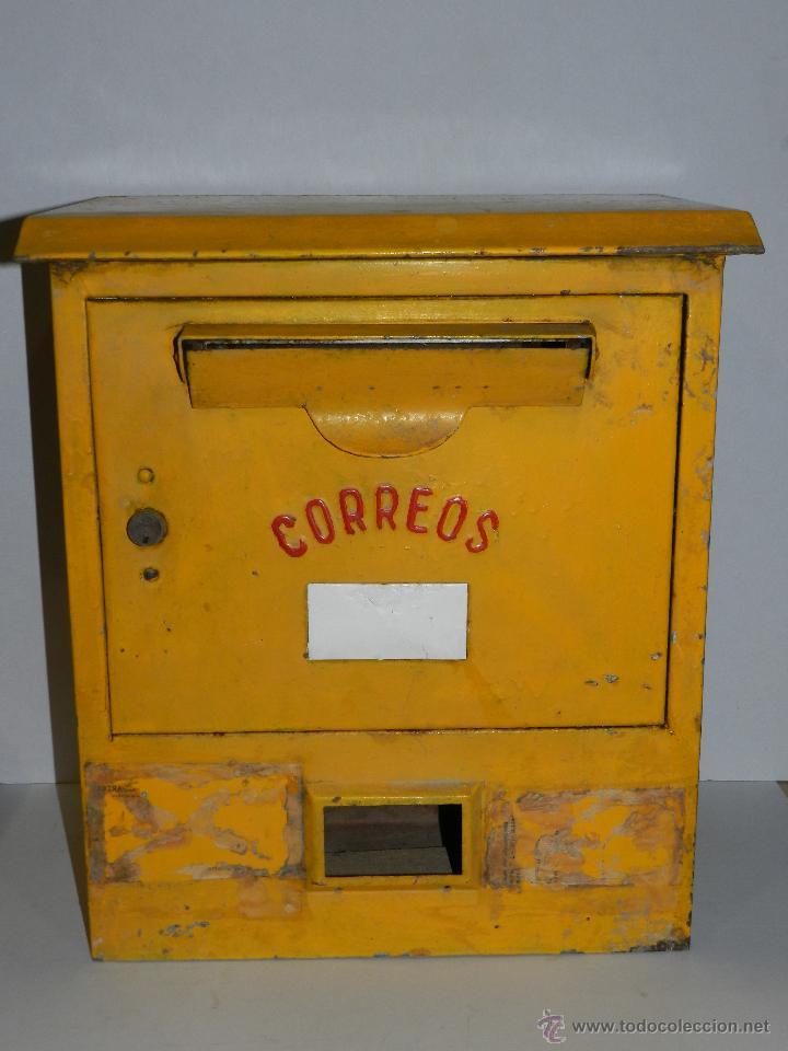 M buzon de correos amarillo 49 39 5 x 26 x 42 comprar carteles antiguos chapas y espejos - Buzon vintage ...
