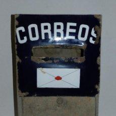 Carteles: (M) CHAPA ESMALTADA DE CORREOS AZUL, BUZON, SEÑALES DE USO. Lote 42738747