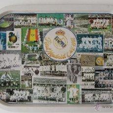Carteles: BANDEJA DE CHAPA LITOGRAFIADA DEL REAL MADRID. Lote 118554238