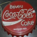 Carteles: (M) LUMINOSO AÑOS 70 - BEVEU COCA-COLA COKE, 57 CM, SEÑALES DE USO. Lote 42975804