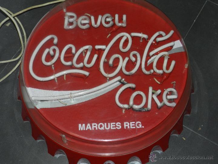 Carteles: (M) LUMINOSO AÑOS 70 - BEVEU COCA-COLA COKE, 57 CM, SEÑALES DE USO - Foto 2 - 42975804