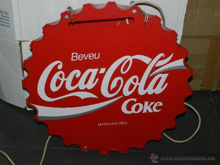 Carteles: (M) LUMINOSO AÑOS 70 - BEVEU COCA-COLA COKE, 57 CM, SEÑALES DE USO - Foto 4 - 42975804