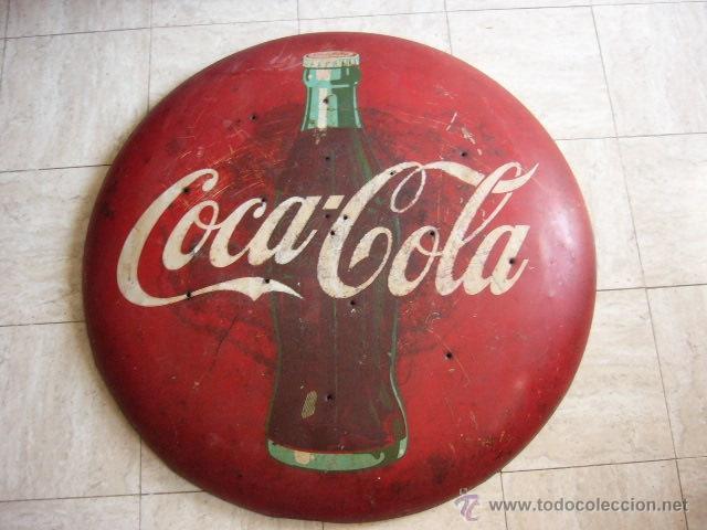 Gran chapa publicitaria de coca cola a os 50 comprar - Chapa coca cola pared ...