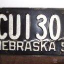 Carteles: RARA PLACA MATRICULA AMERICANA ESTADO NEBRASKA (USA) ORIGINAL AÑO 1951 VINTAGE COLECCIÓN. Lote 43448483
