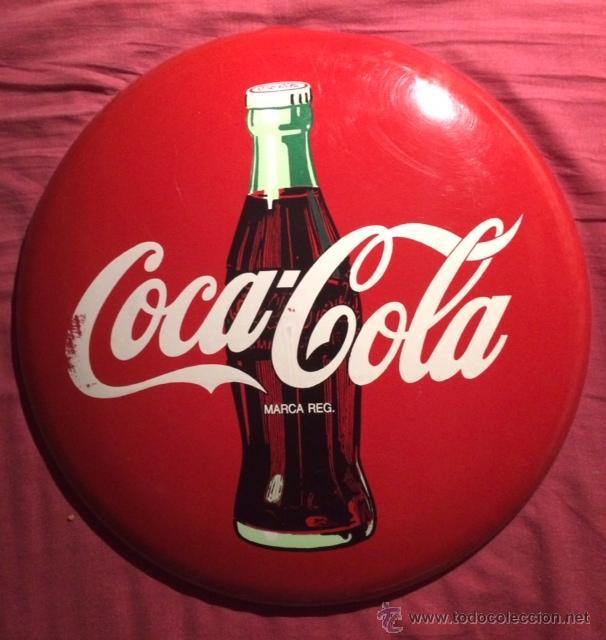 Antiguo cartel chapa de publicidad de coca cola comprar - Chapa coca cola pared ...
