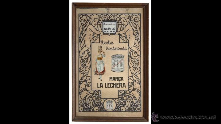 ESPEJO LA LECHERA AÑOS 60/70 (Coleccionismo - Carteles y Chapas Esmaltadas y Litografiadas)