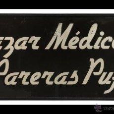Carteles: VIDRIO PINTADO - BAZAR MÉDICO. Lote 43930632