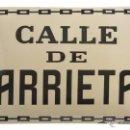 Carteles: CHAPA ESMALTADA CALLE ARRIETA, PAMPLONA. Lote 43930780