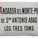 Carteles: CHAPA ESMALTADA - ELS TRES TOMBS-ANDADOR DEL MONTE-PÍO- FORN, BARCELONA. Lote 43932031