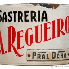 Carteles: CHAPA ESMALTADA- SASTRERÍA REGUEIRO. Lote 43997718