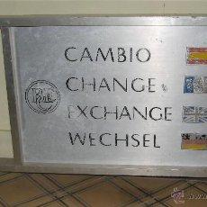 Carteles: CARTEL INDICADOR DE CAMBIO DE DIVISA- BANCO ESPAÑOL DE CREDITO . Lote 44048873