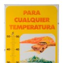 Carteles: CHAPA ESMALTADA- TERMÓMETRO SUPER CEPSA- PLÚRIMA BARCELONA. Lote 44059715