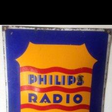 Carteles: PHILIPS RADIO DISTRIBUIDOR-CHAPA ESMALTADA. Lote 44107067