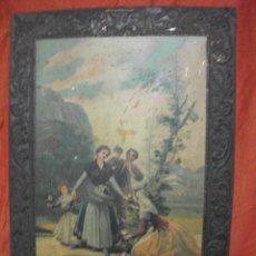 Carteles: GRAN CARTEL DE CHAPA - LAS FLORISTAS DE GOYA CARTELES ENVASES METALICOS HIJOS DE G. BERTRAN 1929. Lote 44482419